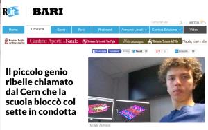 Daniele Doronzo 17 anni, su Repubblica
