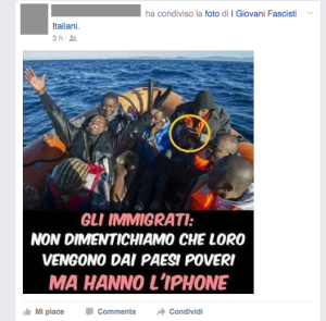 immigrati e iphone
